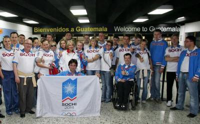 Sochi-2014 arriving to Guatemala