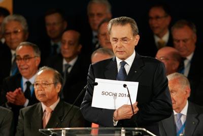 President of IOC announces Sochi 2014 Winter Olympics winner
