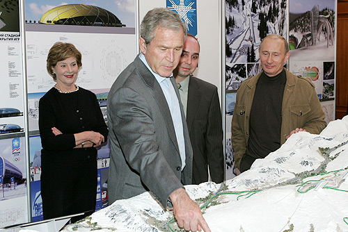 Bush view Russian Olympic projects