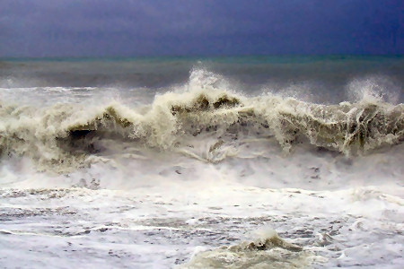 Sochi: Black Sea storm