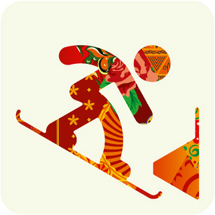 sochi 2014 snowboarding pictogram